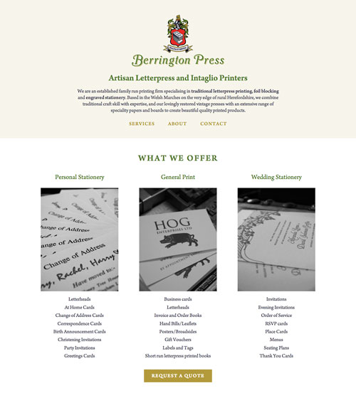 Berrington Press website