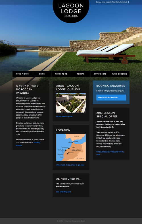 Lagoon Lodge website